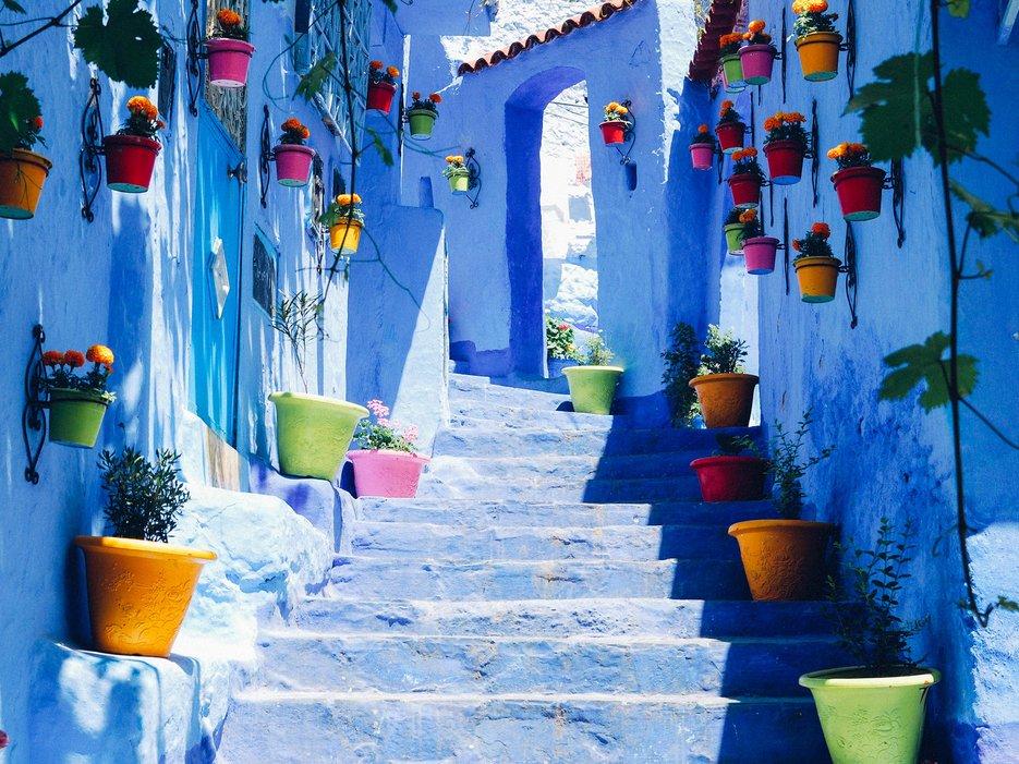 شهری آبی رنگ در شمال غرب مراکش; شفشاون