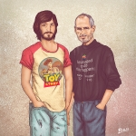 نگاه جالب هنرمند نقاش Fulvio Obregon به گذشته و اکنون شخصیت های معروف