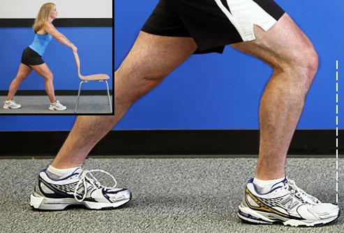 کشش ساق پا - بهبود زانو درد