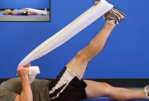 کشش همسترینگ - بهبود زانو درد