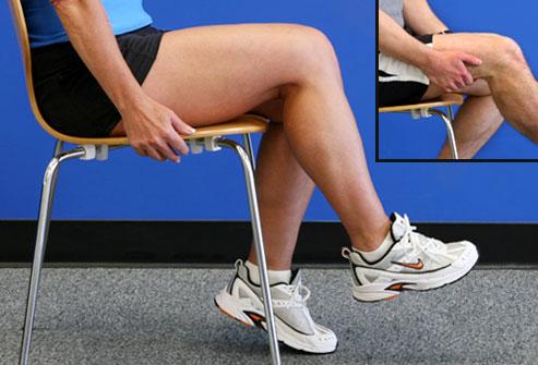 Seated Hip March - بهبود زانو درد