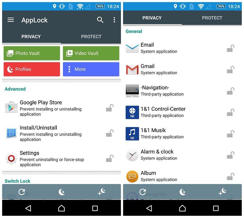 مخفی کردن فایل ها در گوشی های اندرویدی با اپ App lock