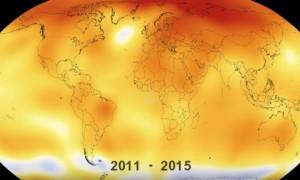 سال 2015 گرمترین سال زمین؛ 135 سال گرم شدن زمین را تنها در 30 ثانیه ببنید (ویدئو)