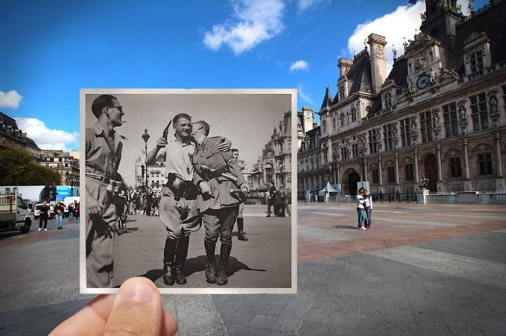عکاس خوش ذوقی که با ایده اش تصاویر قدیمی پاریس را دوباره زنده می کند