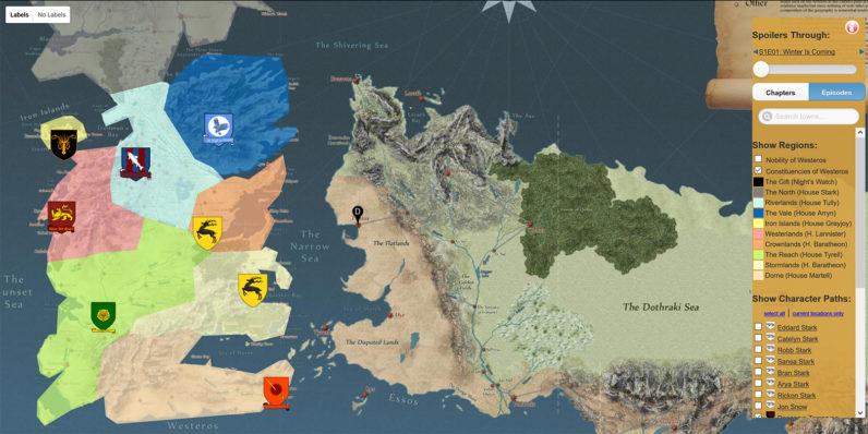 نقشه سرزمین Game of Thrones درک بهتری از مسیر داستان به شما خواهد داد