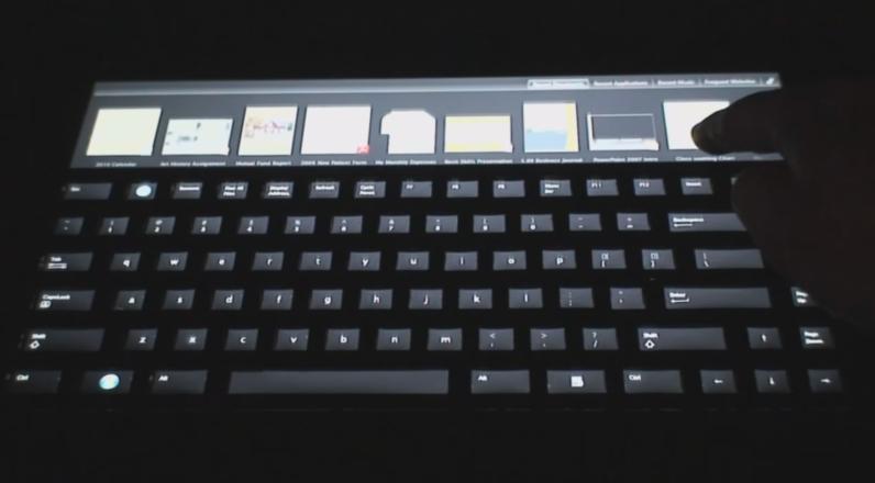 ایده Touch Bar مایکروسافت