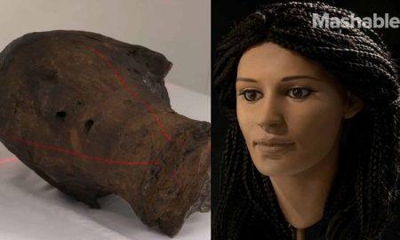 بازسازی چهره زن مومیایی ۲۰۰۰ ساله مصری