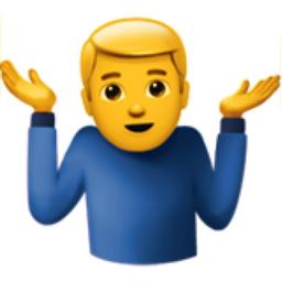 اموجی ? Person Shrugging یا شانه بالا انداختن