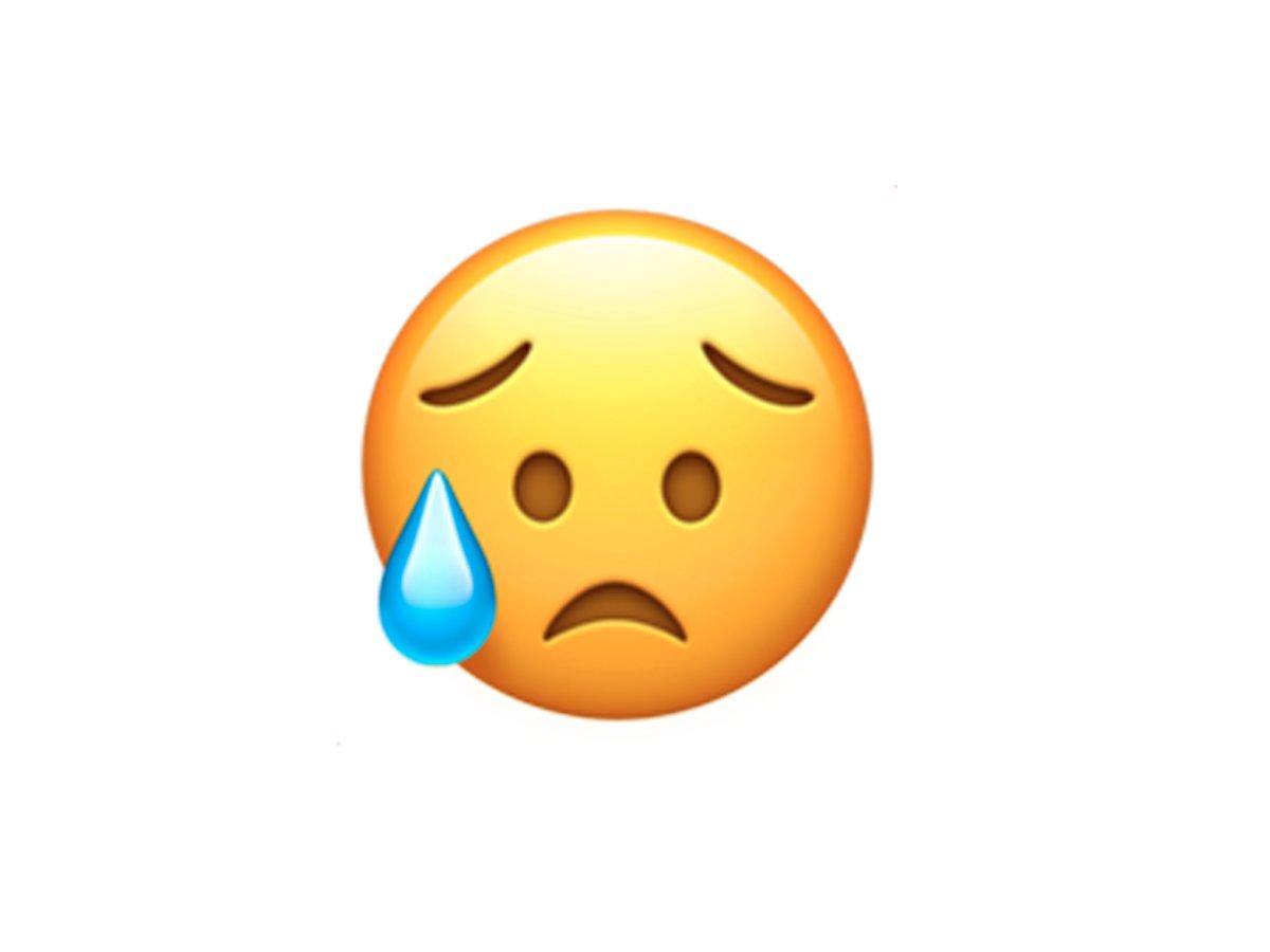 این شکلک گریه نمی کند! بلکه در ناامیدی به سر می برد!