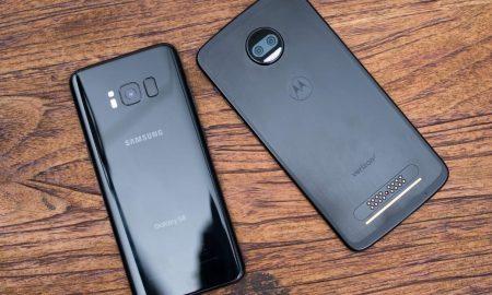 مقایسه Moto Z2 Force با Galaxy S8