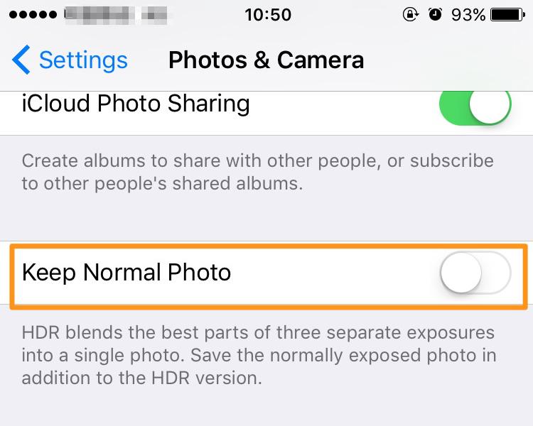 تنها تصاویرHDR را روی دستگاهتان ذخیره کنید