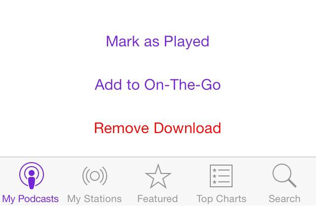 حذف پادکست ها و سایر فایل های صوتی در آیفون و آیپد