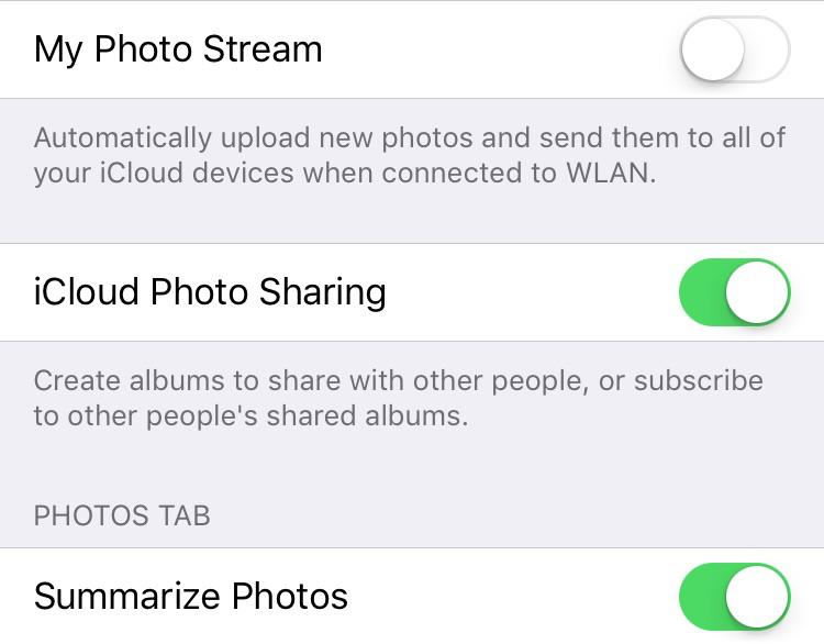 غیر فعال کردن Photo Stream برای افزایش فضا در آیفون و آیپد