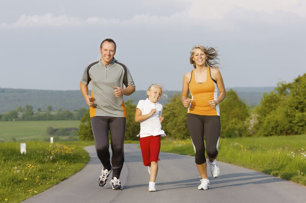 Family jogging