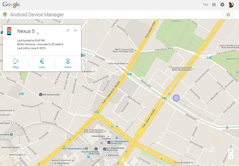 Android Device Manager به کاربر امکان یافتن موقعیت تلفن را خواهد داد