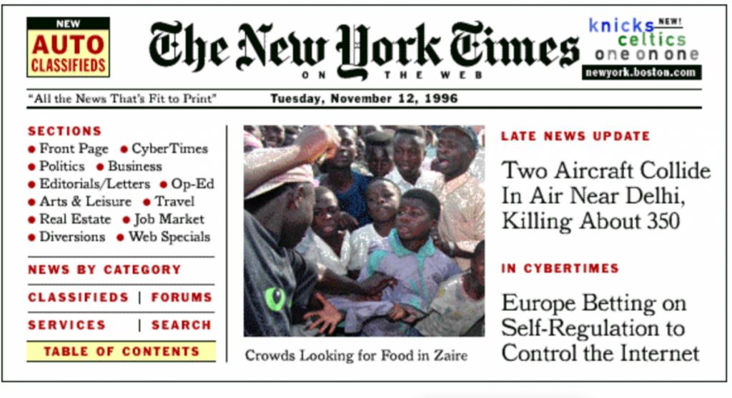 نیویورک تایمز 1996