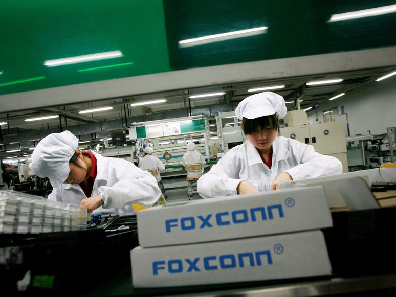 ارزش سهام Foxconn