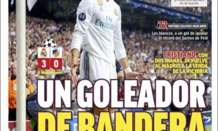 پیشخوان روزنامه های ورزشی اسپانیا