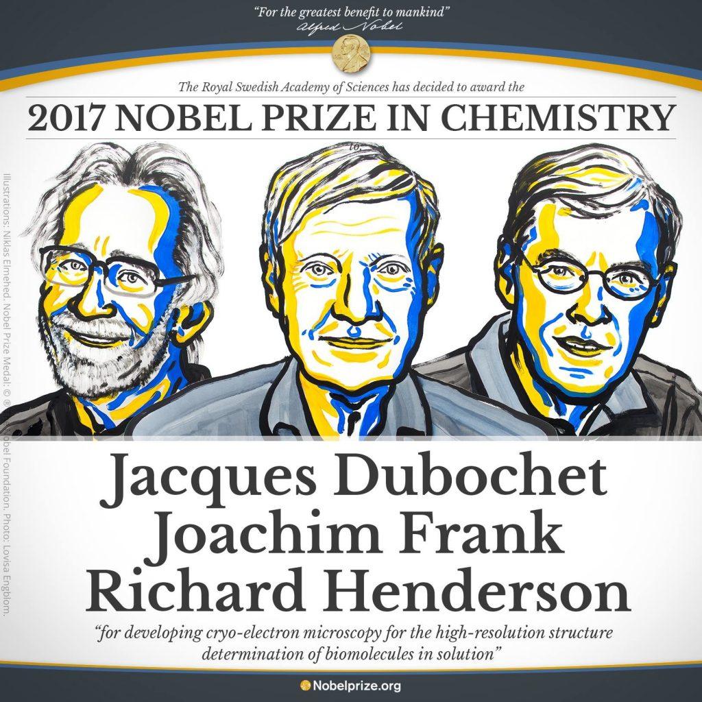 برندگان جایزه نوبل شیمی 2017