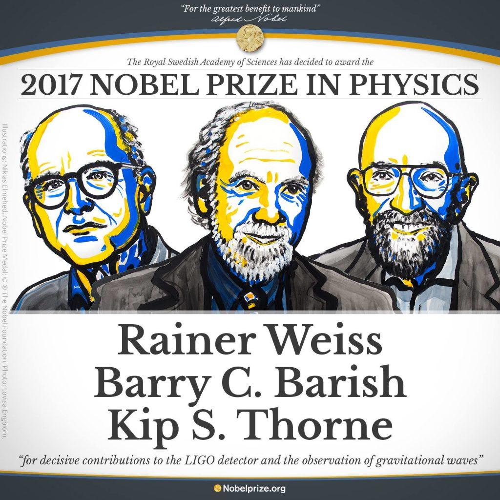 برندگان جایزه نوبل فیزیک 2017