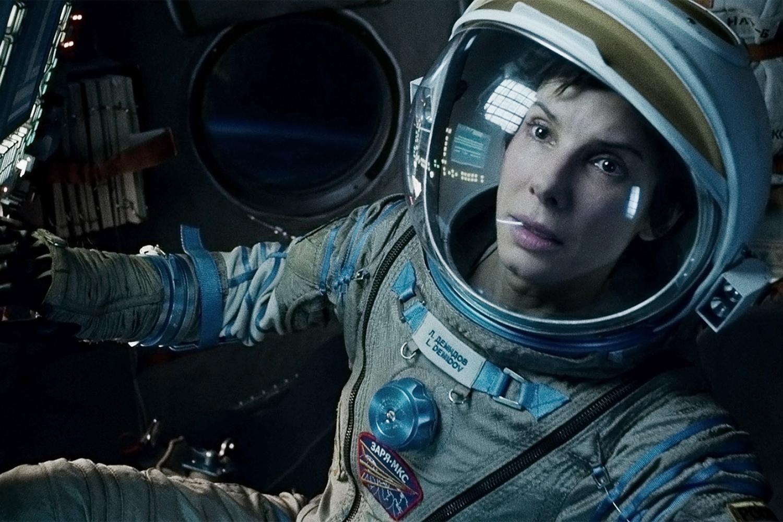 هنرنمایی Sandra Bullock در فیلم جاذبه کاری از آلفونسو کوارون محصول سال ۲۰۱۳