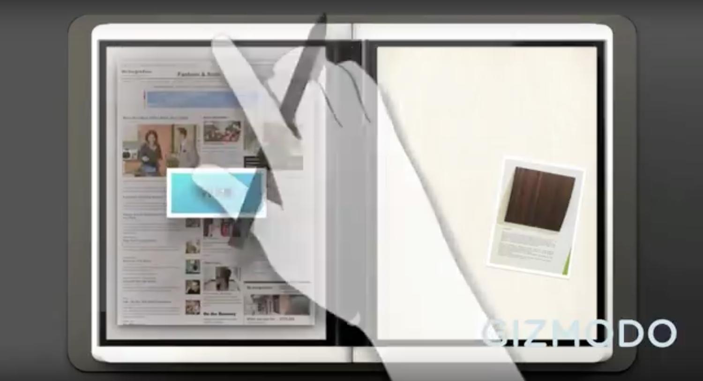 تبلت مایکروسافت با صفحه انعطاف پذیر