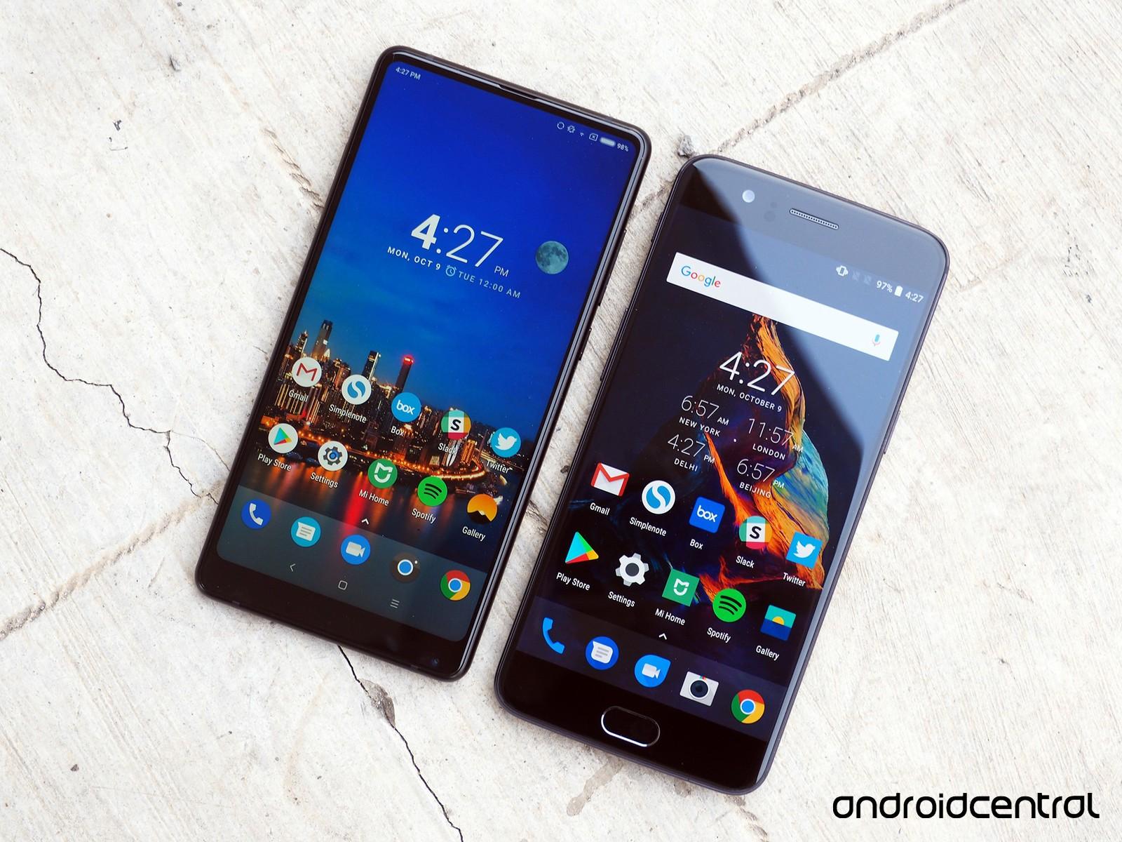 مقایسه Mi Mix 2 با OnePlus 5: گوشی های پرچم دار کمپانی های نوظهور چینی!