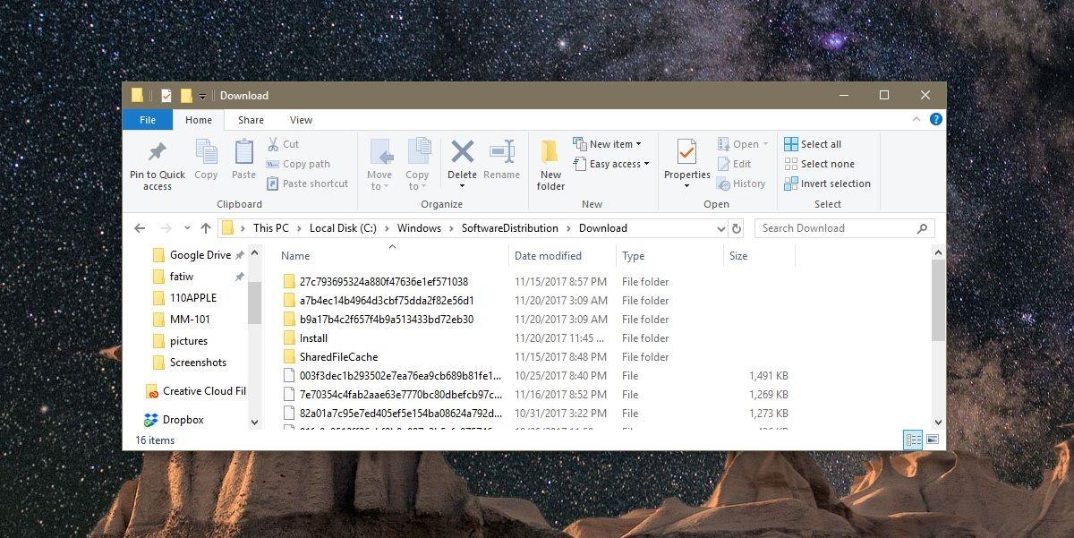 حذف فایل آپدیت ویندوز ۱۰
