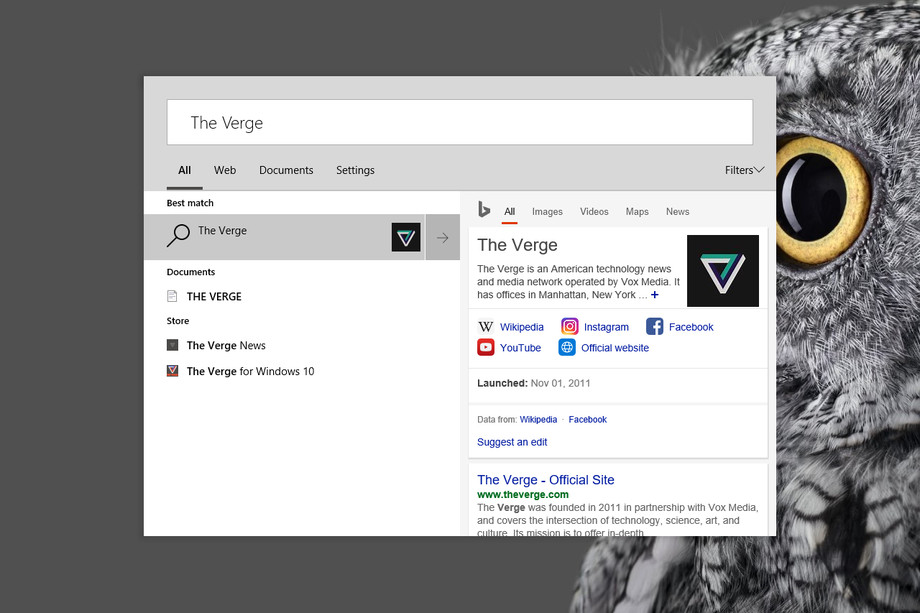 سبک جدید جستجو در ویندوز 10