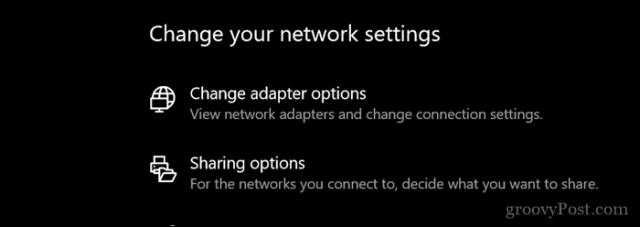 تنظیمات شبکه عمومی و خصوصی را سفارشی کنید