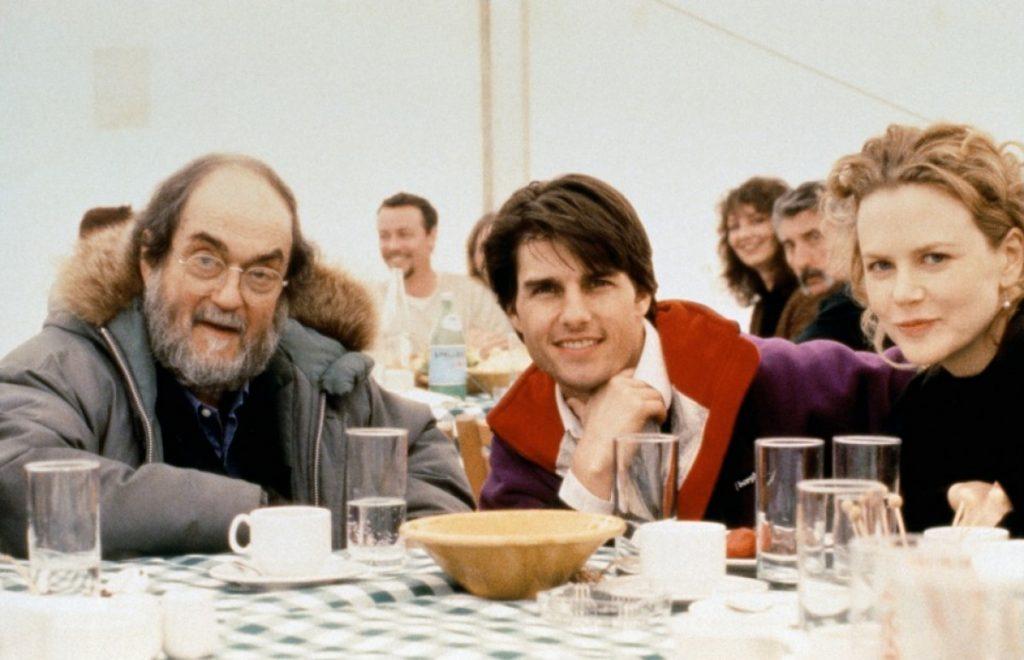 استنلی کوبریک، تام کروز و نیکول کیدمن در پشت صحنه فیلم چشمان کاملا بسته