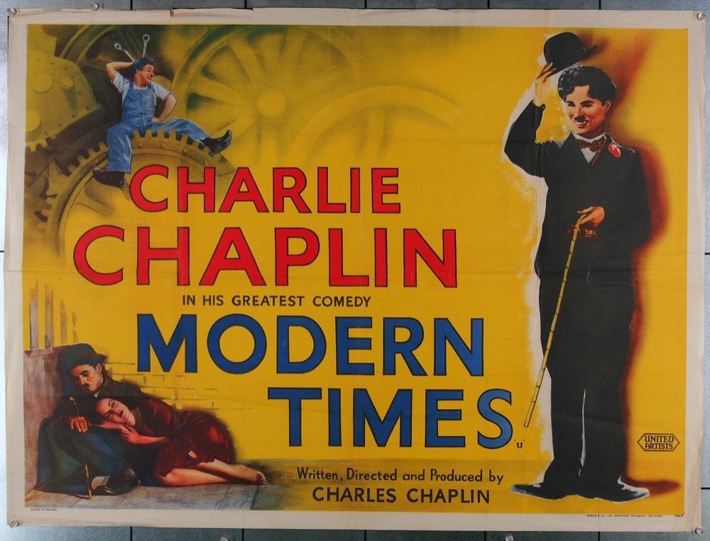 پوستر فیلم Modern Times عصر جدید اثر چارلی چاپلین