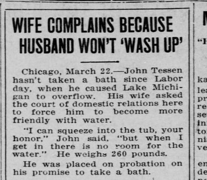 شکایت یک زن از شوهرش بخاطر حمام نکردن