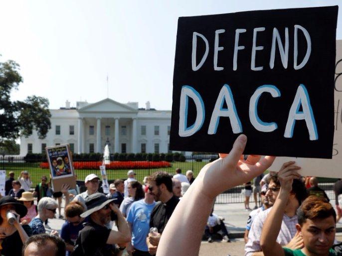 اعتراضات حامیان برنامه داکا جلوی کاخ سفید در نیویورک