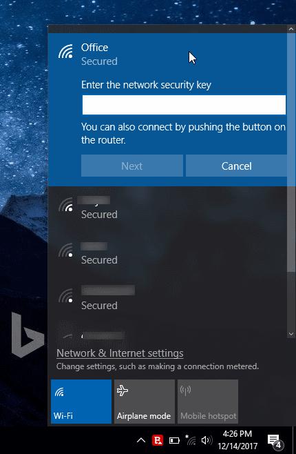 اتصال به شبکه WI-FI