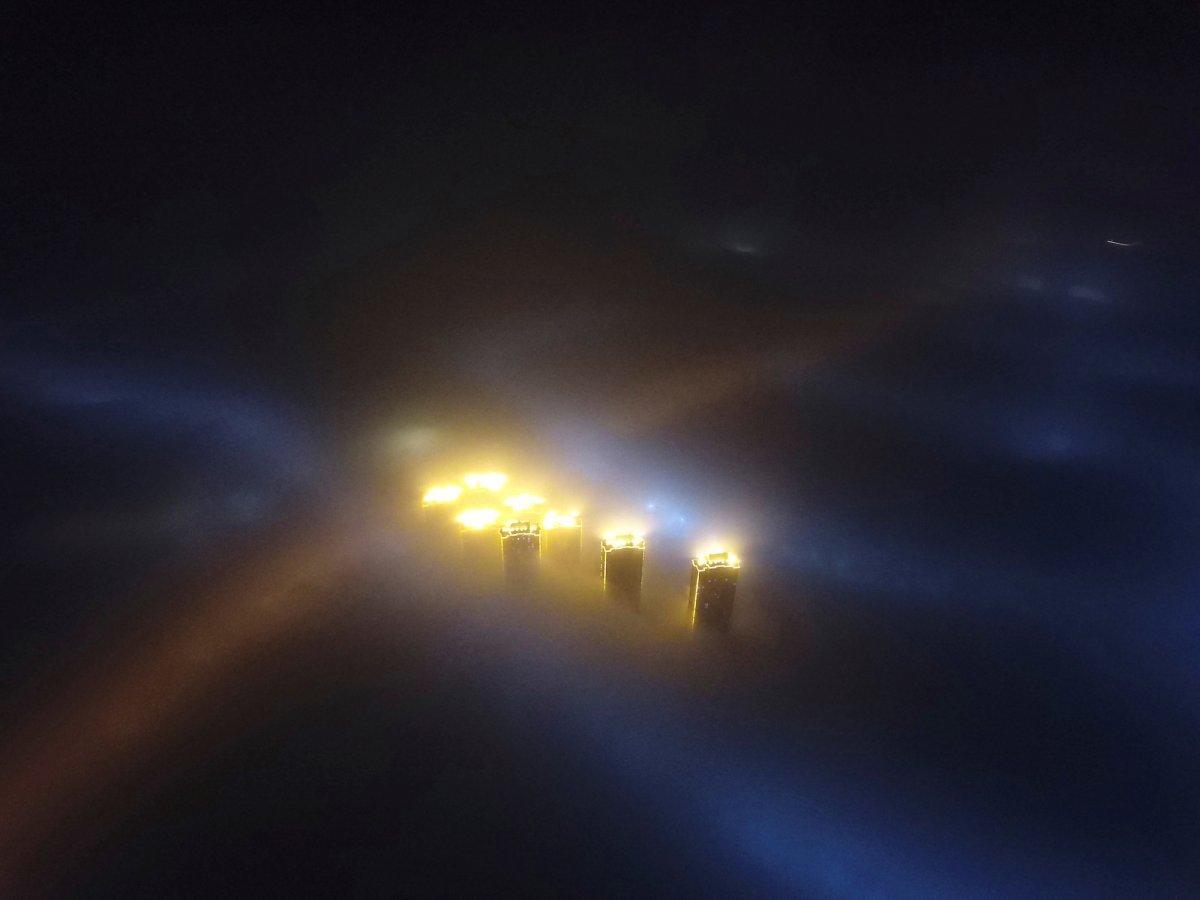 مه زیاد در شهر تینجیان چین