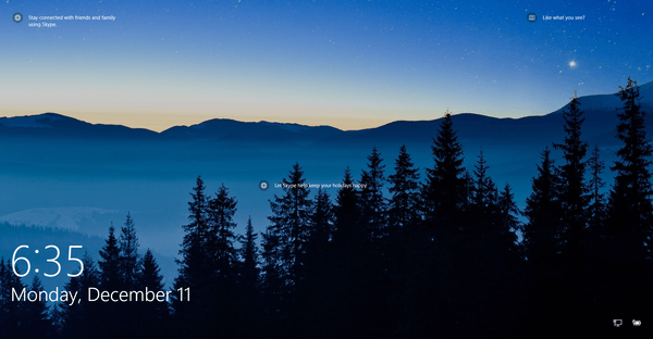 لاک اسکرین در ویندوز 10