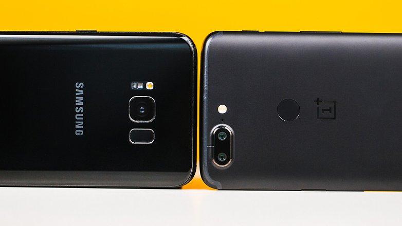 رقابت سامسونگ گلکسی S8+ در مقابل OnePlus 5T