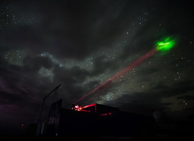 پرتوهای زمینی، فوتون ها را به سمت ماهواره Micius چین در فضا پرتاب می کنند.