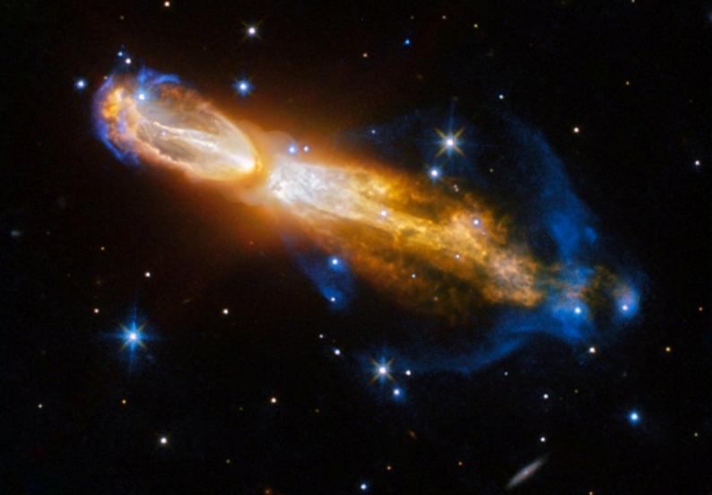 """سحابی کدو قلیانی، یا سحابی """"تخم مرغ فاسد""""، نشان می دهد زمانی که یک ستاره مانند خورشید می میرد، به چه شکلی در می آید."""