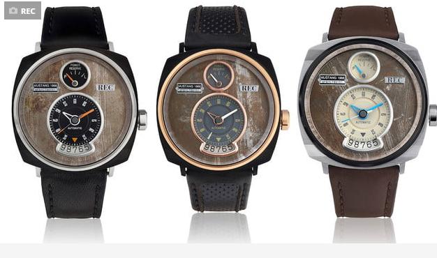 ساعت هایی که از اجزاء بدنه خودرو موستانگ ساخته شده اند!