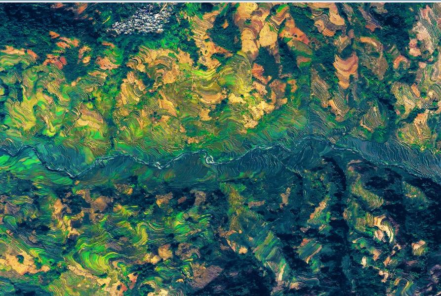 تراس های برنج - استان یوننان، چین