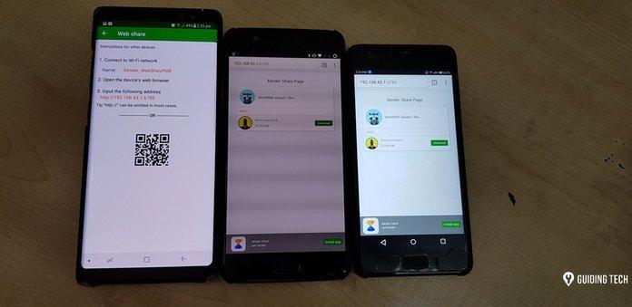 با اتصال به شبکه Wi-Fi قابل حمل می توانید فایل ها را به دستگاه های متصل شده به اشتراک بگذارید.