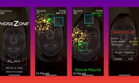 بازی NoseZone کنترل بازی با بینی
