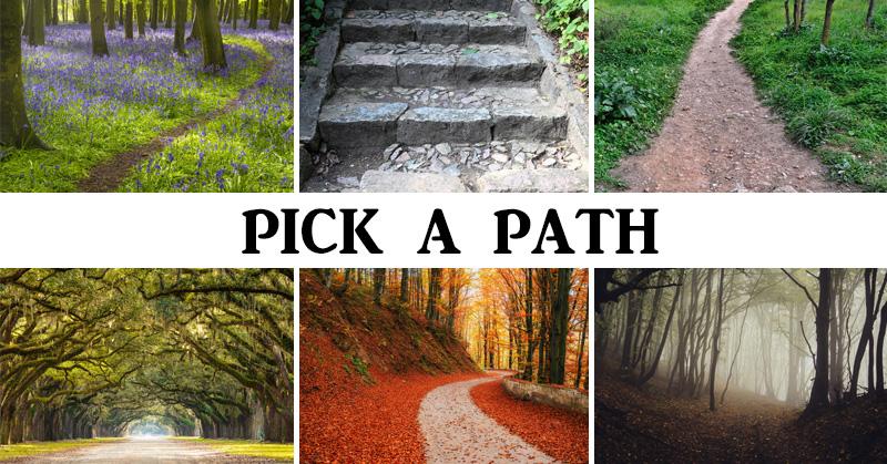 با دقت نگاه کنید و ببینید ترجیح میدهید کدام راه را برای رسیدن به نقطه مورد نظرتان برای پیاده روی و گردش انتخاب کنید