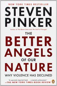 "کتاب ""The Better Angels of Our Nature: Why Violence Has Declined"" (فرشتگان بهتر طبیعت ما: چرا خشونت کاهش یافته) اثرSteven Pinker"