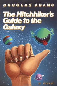 """کتاب """"The Hitchhiker's Guide to the Galaxy"""" (راهنمای مسافران کهکشان) اثر Douglas Adams"""