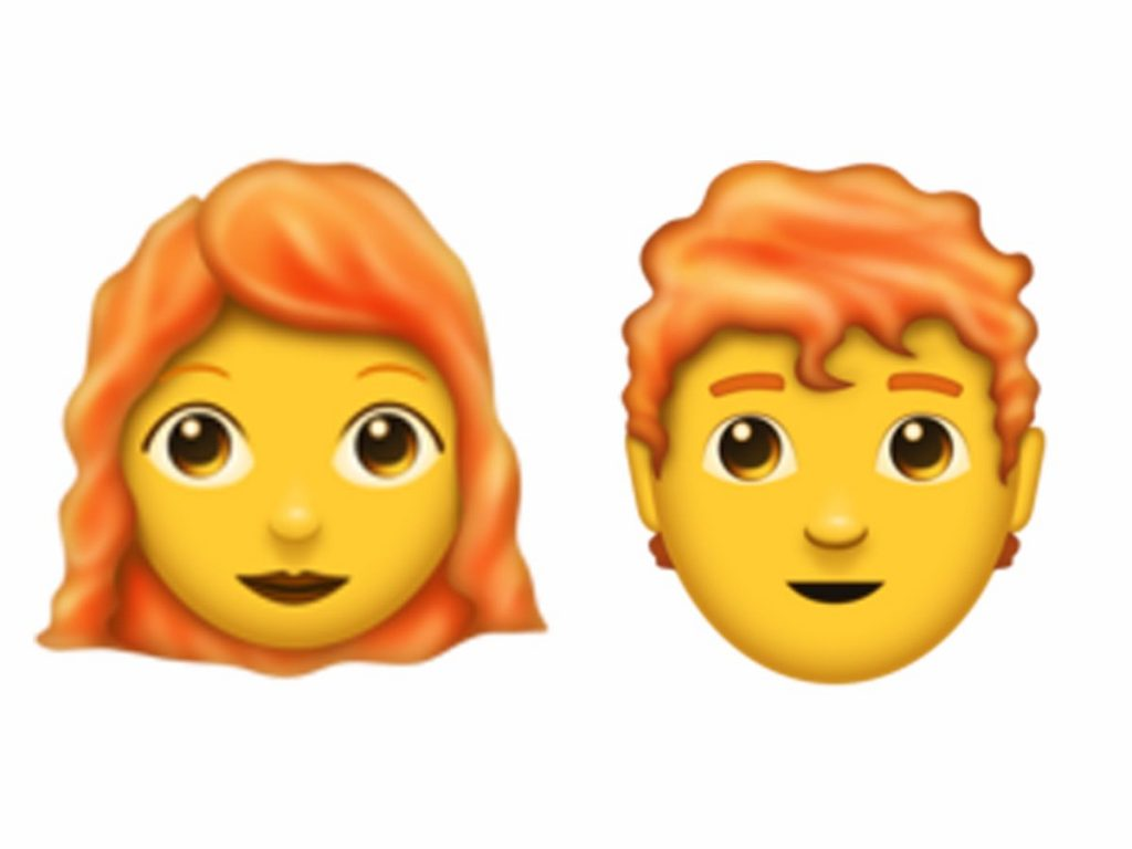 ایمیوجی مرد و زن مو قرمز