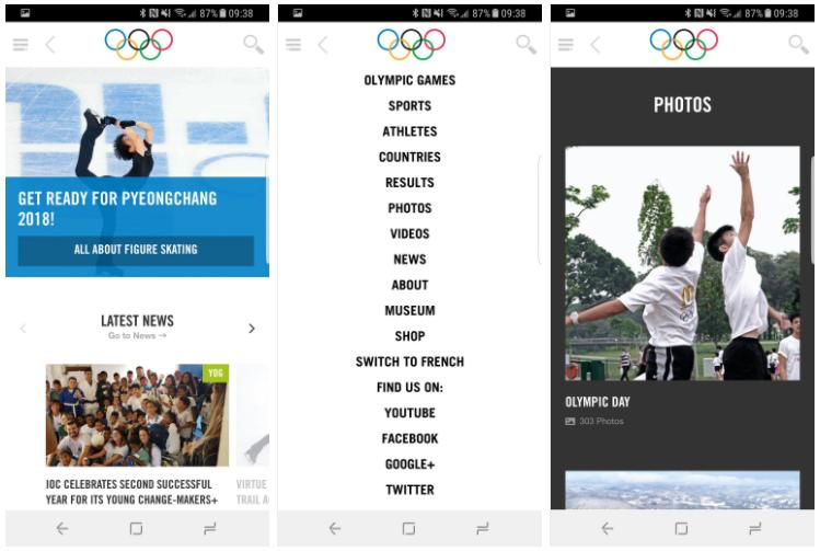 اپ The Olympics - Official