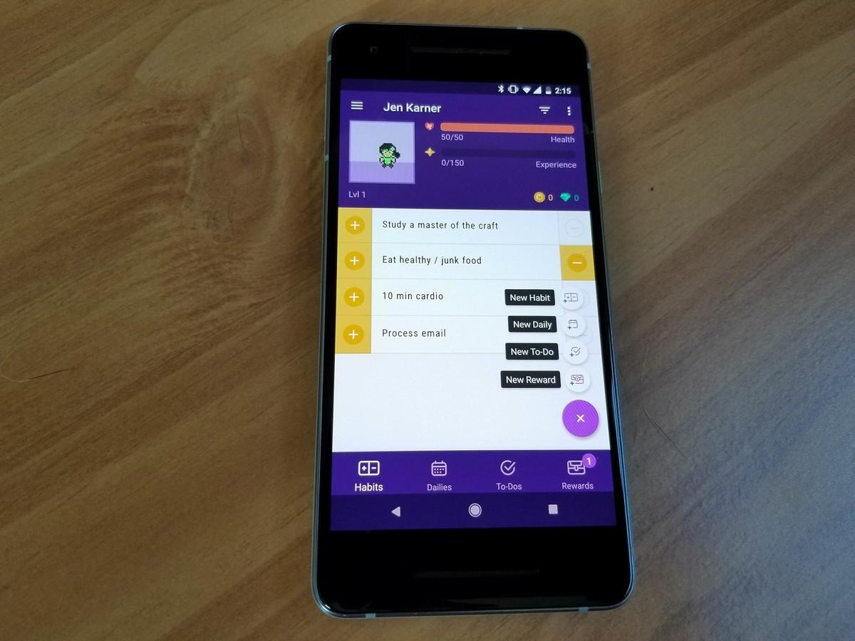 Habitica ایجاد عادت های خوب با اپ های اندرویدی